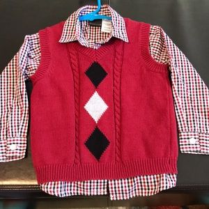 Boys dress shirt & vest